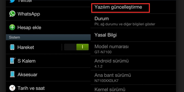 android-yazilim-guncelleme